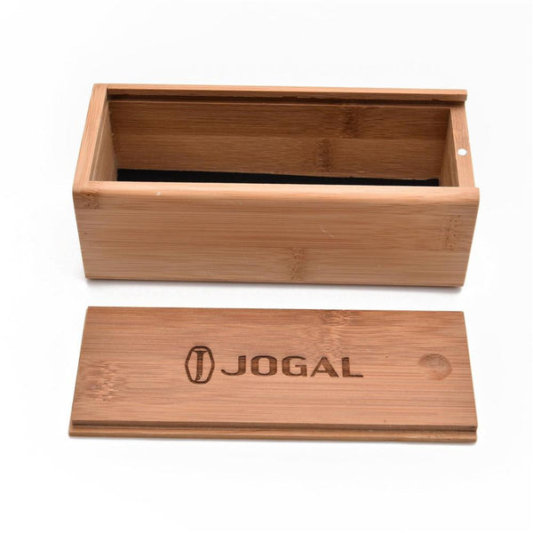 JOGAL Handmade Sunglasses Case  Natural Bamboo