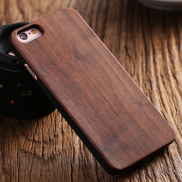 Natural Wood Bamboo And Walnut Wood Hard Back Protective Case For Apple Iphone 5s Se 5 Shockproof Cover Stylish