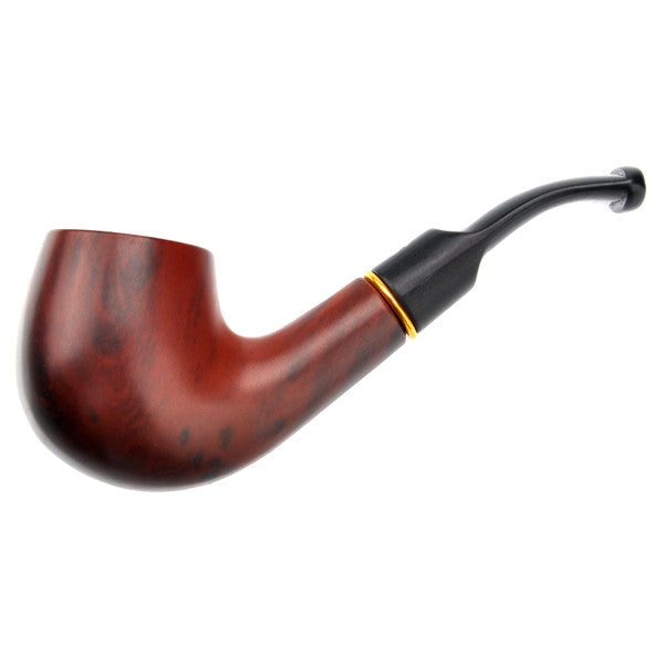 Destinctive Polished Wood Cigarette Tobacco Smoking Pipe Handmade  Classic Bent Pipe