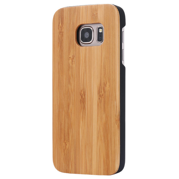 KISSCASE Natural Wooden Bamboo Case for Samsung Galaxy S7 G9300 S7 Edge G9350 Hard Cover