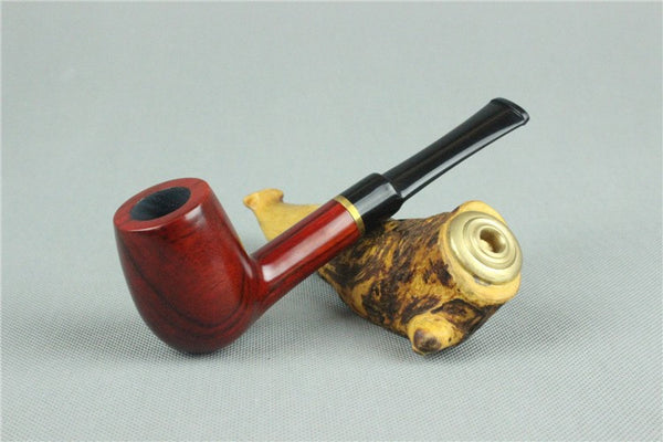 Elegant Red Sandalwood Free Style Smoking Pipe