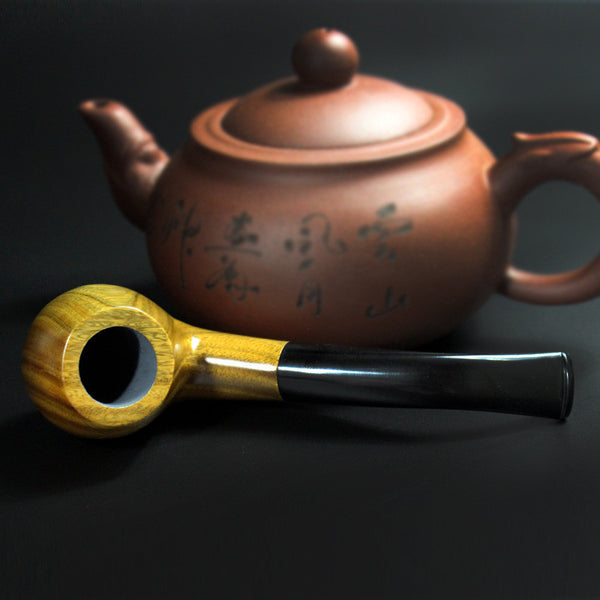 Blonde Sandalwood Smoking Pipe w/ Screen Filter Tobacco  Pipe