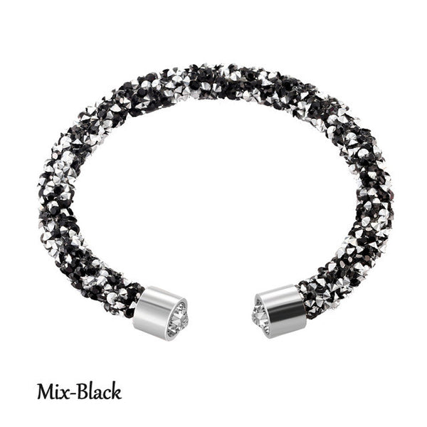 Hot New Women's/Girl's Crystal Bracelet Rhinestone Open Closure Bangle Top Quality FREE SHIPPING