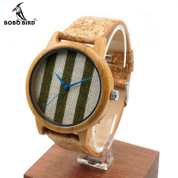 BOBO BIRD New Style Men's Bamboo Wood Wristwatch Resin Materials Strap Analog Watche With Japanese Movement In Gift box
