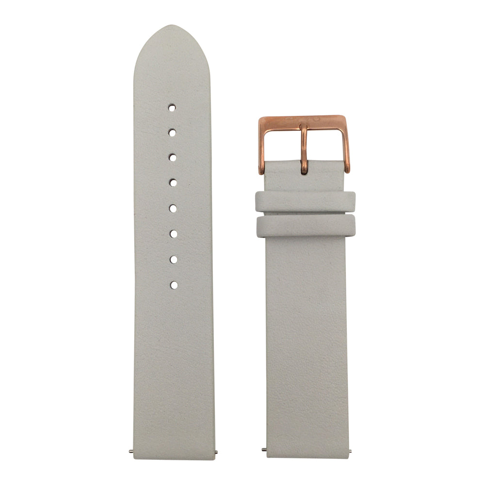 Light Gray Genuine Leather Watch Band