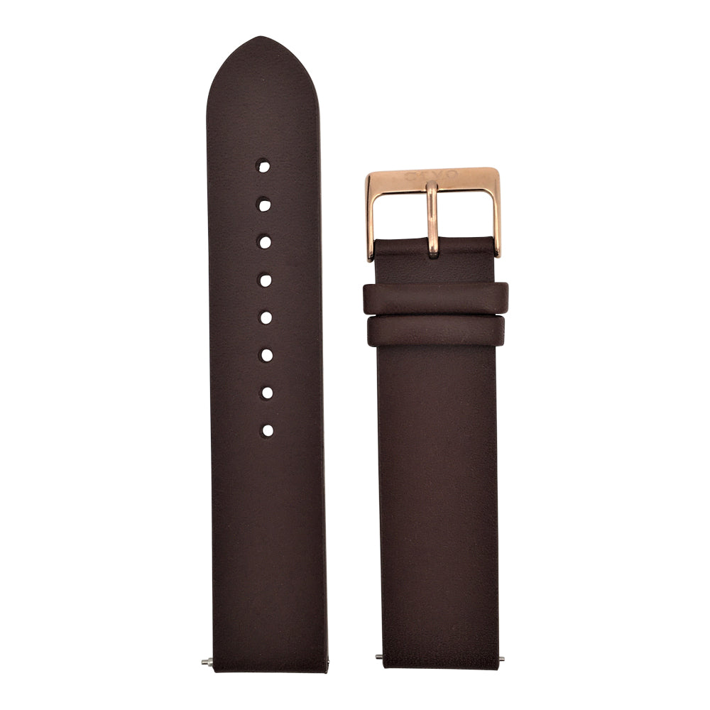 Arvo Saddle Brown Genuine Leather Watch Band