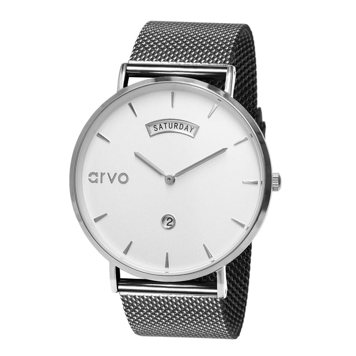 The Awristacrat Watch - Silver - Silver Mesh
