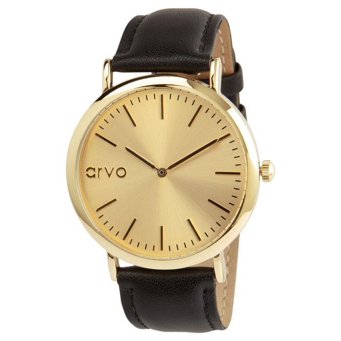Gold Time Sawyer - Black Leather