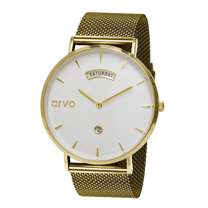 The Awristacrat | Gold - Gold Mesh Band 40mm