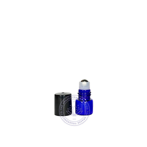 Round R Roll-on Bottle, Cobalt Blue - 1ml, 2ml