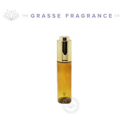 0030ml Black Beauty Round PET, Amber w/ Gold Dropper