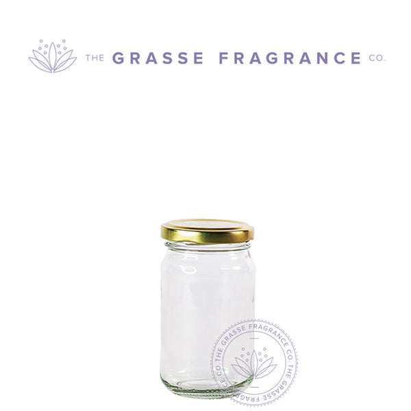 225ml/8oz M-7177, Generic Pack Jar, Clear with Gold Cap