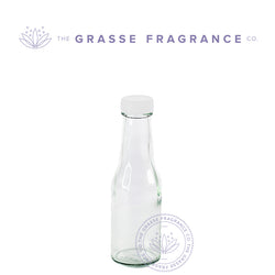 150ml M-7314, Sauce Bottle, Clear with White Cap