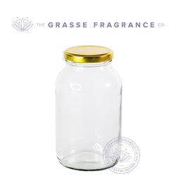 710ml/24oz M-735, Packer's Jar, Clear with Gold Cap