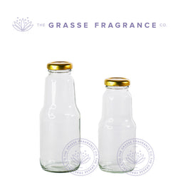 Hot Filled Bottle, Clear with Gold Cap