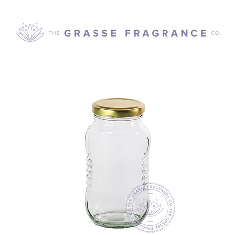 350ml/12oz M-7743, Fancy Wide Mouth Oval Jar