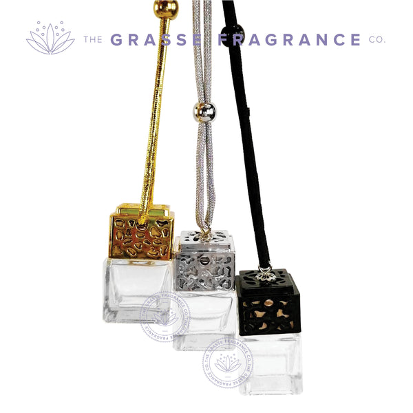 0007ml Square Hanging Diffuser Metallic