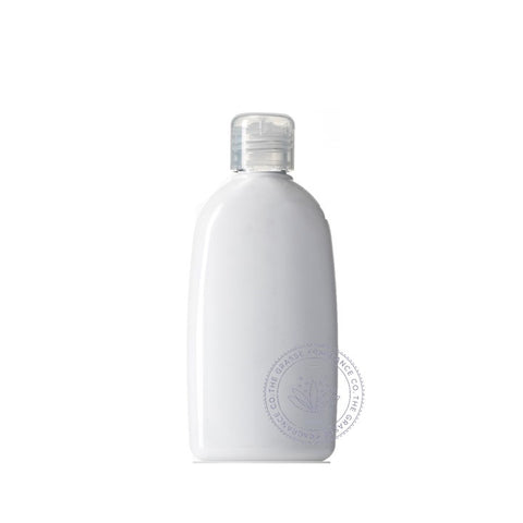 0200ml Oval PET, Light White
