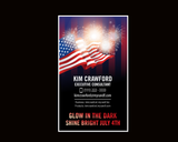 Rodan and Fields USA American Independence Day Glow in the Dark Mini Facial Card