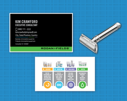 Rodan and Fields Business Card for Men