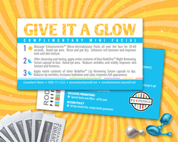 Rodan Fields Give it a Glow PC Perks Benefits Personalized