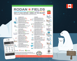 Rodan Fields Holiday Gift Guide Order Sheet for Canada