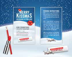 Rodan Fields Merry Kissmas Give it a Glow Card