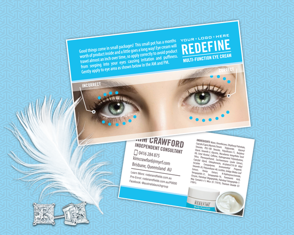 Rodan and Fields Multi-Function Eye Cream Steps Card