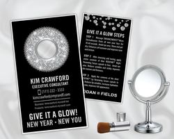 Rodan and Fields New Year New You Give it a Glow Card - Front and Back