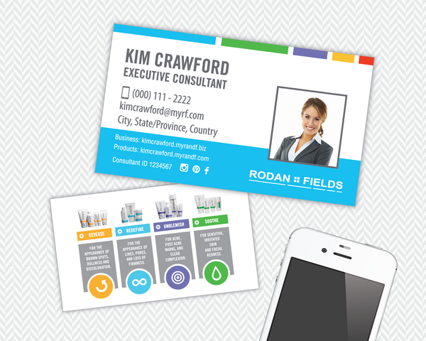 Rodan and Fields Regimens Business Card with Your Photo 1