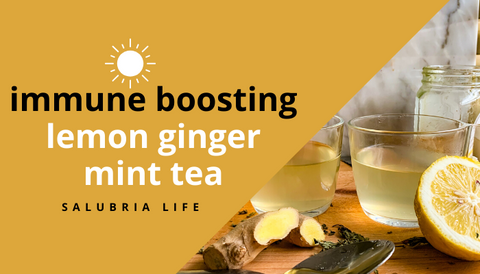 Immune boosting lemon ginger mint tea cover
