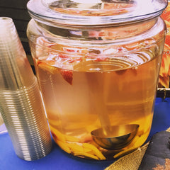 strawberry mango infused water at Salubria pop-up