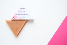 Pink Clay | Goats Milk |  Rose Origami Soap