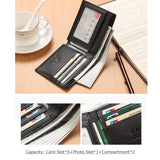 Black Casual Horizontal Wallet N4437