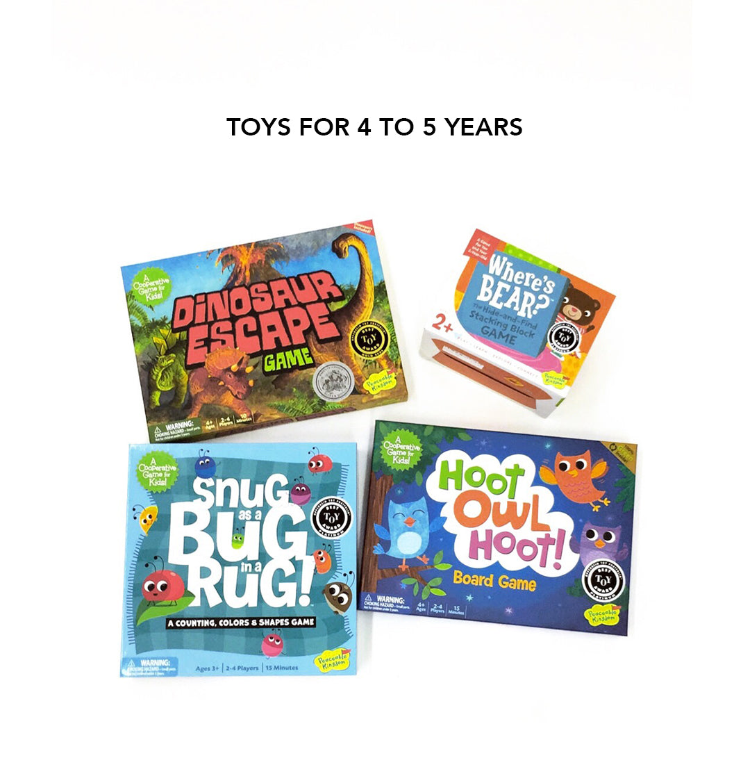 Toys for 4 to 5 years