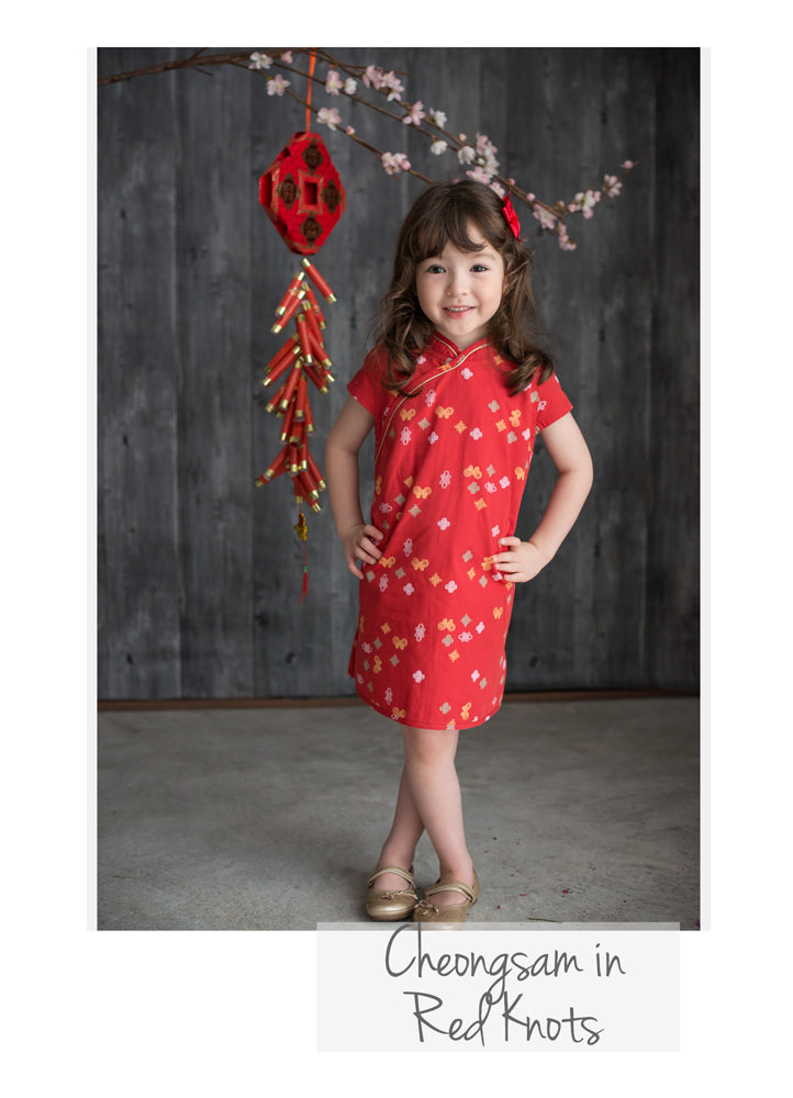 Cheongsam in Red Knots