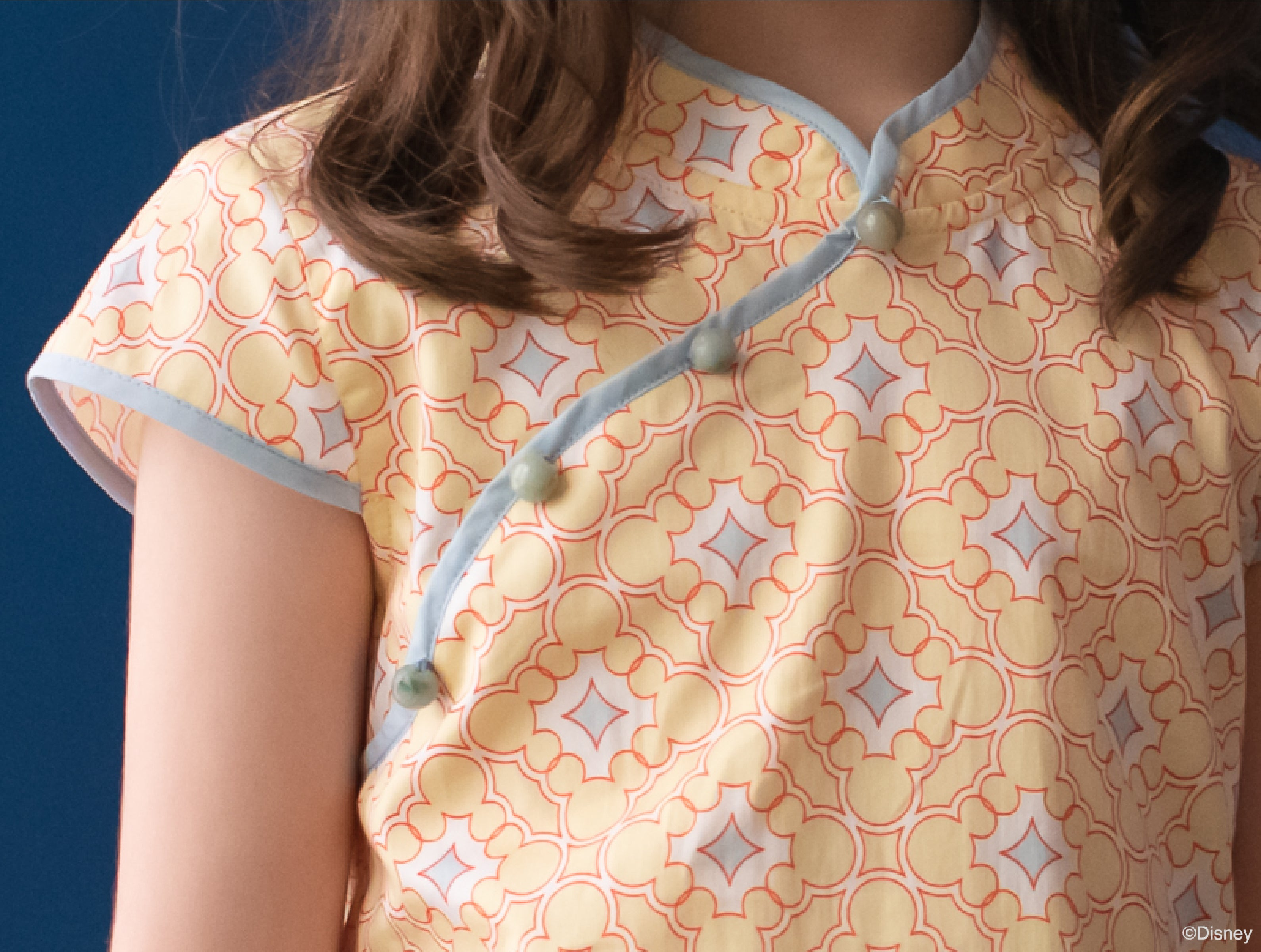 Cheongsam Yellow Mosaic Mickeys | The elly store