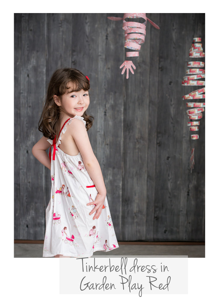 Tinkerbell dress Garden Play Red