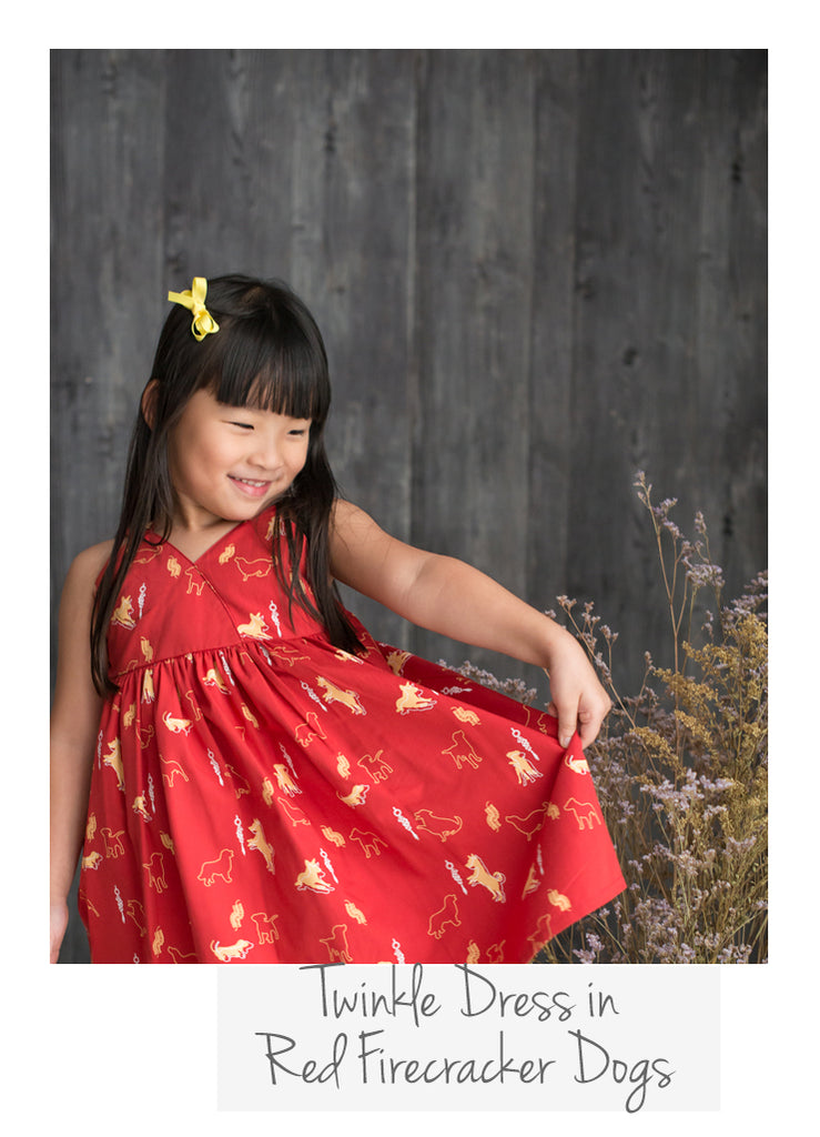 Twinkle Dress Red Firecracker Dogs