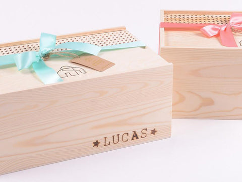 Baby gifts the elly store shop our new wooden keepsake boxes and personalise it with your babys name negle Choice Image