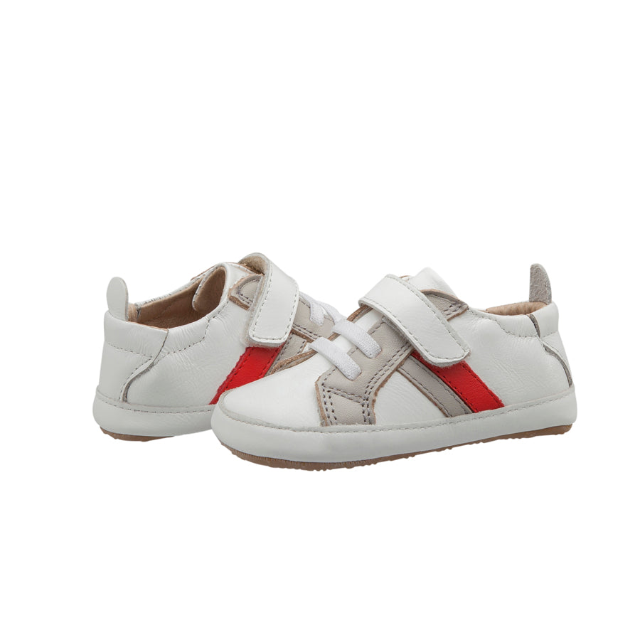 Mini Jogger Snow / Grey / Bright Red | Old Soles Baby Shoes | The Elly Store