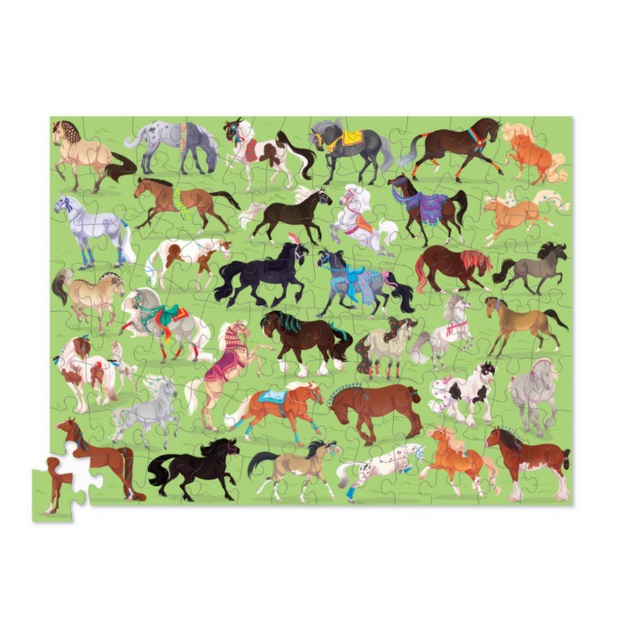 100 Piece Puzzle - 36 Horses Crocodile Creek