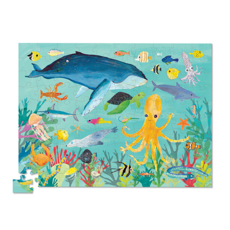 100 Piece Puzzle - 36 Ocean Animals Crocodile Creek
