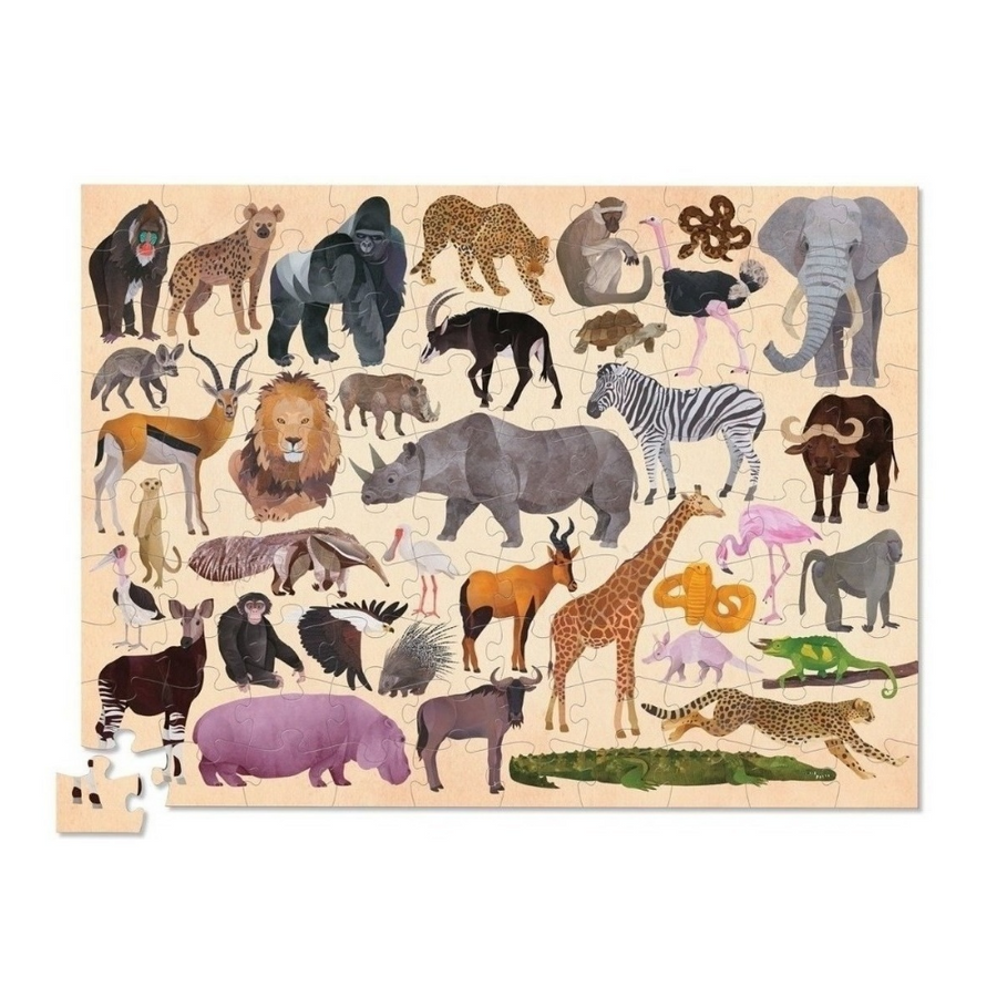 100 Piece Puzzle - 36 Wild Animals Crocodile Creek