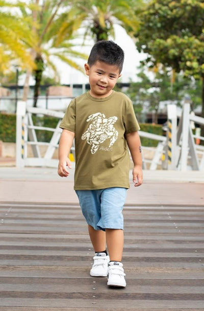 Army Turtle Tee | Kids Clothing | The Elly Store