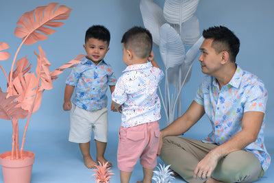 Little Man Shirt Blue Simba | Tropical 2021 | The Elly Store
