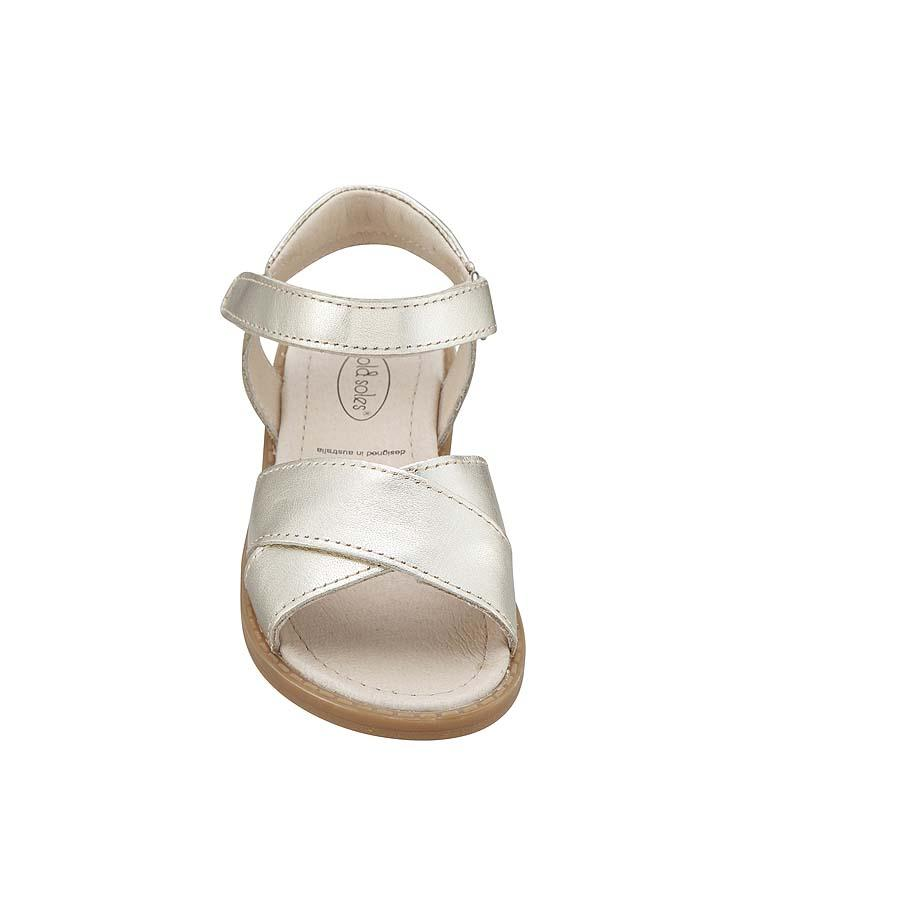 44f49cf29 Old Soles Bouquet Gold Girls Sandals Kids Shoes