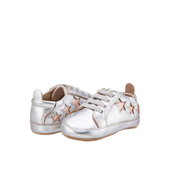 Old Soles Prewalkers Silver Bambini Star Sneakers Baby Shoes