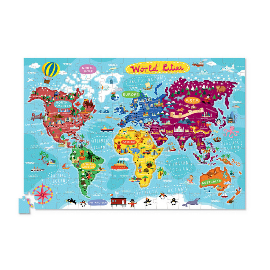 200 Piece Puzzle & Poster - World Cities