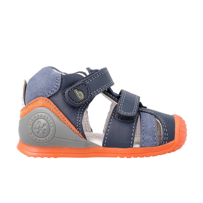 Urban Ocean Orange Sandals | Biomecanics Kids Shoes | The Elly Store